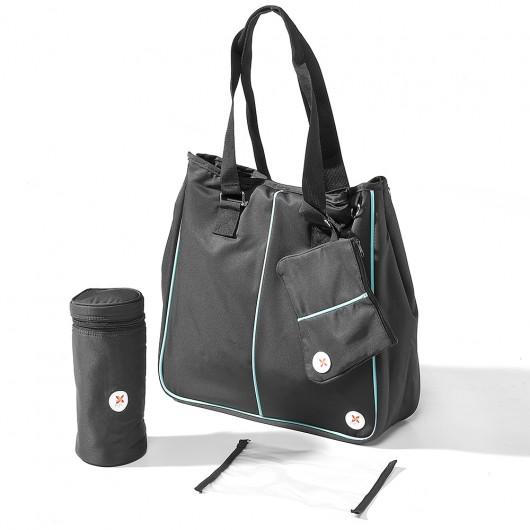 Shopping_Bag_Schwarz_Türkis