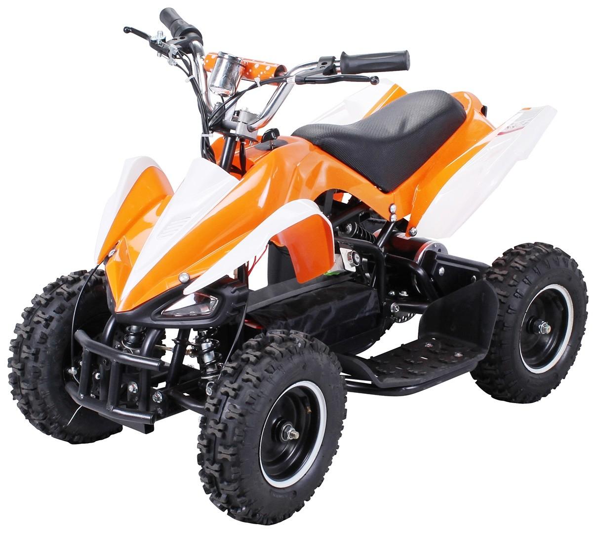 Kinderfahrzeuge Elektro kinderquad in orange.