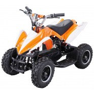 Elektro Kinder Quad Racing 800 Watt Orange Weiss